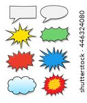 comics bubbles   Shutterstock .eps vector #446324080