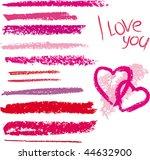 vector brush made by line... | Shutterstock .eps vector #44632900
