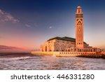 the hassan ii mosque  largest...   Shutterstock . vector #446331280