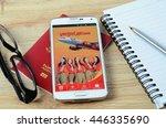 kota kinabalu  malaysia   july...   Shutterstock . vector #446335690