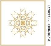 gold mandala or geometrical... | Shutterstock .eps vector #446338114