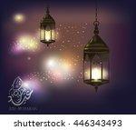 illustration of illuminated... | Shutterstock .eps vector #446343493