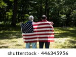 patriotic holiday  cheerful ... | Shutterstock . vector #446345956
