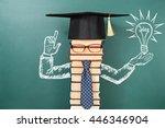 concept of birth of ideas ... | Shutterstock . vector #446346904
