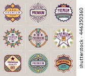 premium quality color logotypes ... | Shutterstock .eps vector #446350360