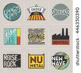 rock music styles genres color... | Shutterstock .eps vector #446350390