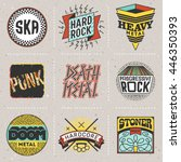 rock music styles genres color... | Shutterstock .eps vector #446350393