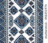 ethnic seamless geometric... | Shutterstock .eps vector #446351974