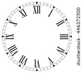 roman numeral clock face on... | Shutterstock .eps vector #446372500