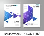 brochure template  flyer design ... | Shutterstock .eps vector #446374189