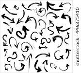 watercolor black arrows... | Shutterstock . vector #446375410
