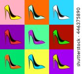 seamless illustration. pop art ... | Shutterstock . vector #446375890