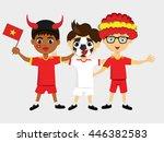 fan of  vietnam national... | Shutterstock .eps vector #446382583