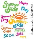 summer sale. hand lettering... | Shutterstock .eps vector #446384248