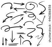 vector illustration set of hand ... | Shutterstock .eps vector #446386858