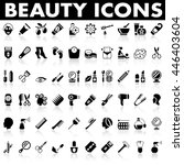 beauty icons  | Shutterstock .eps vector #446403604