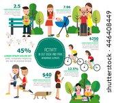 activity in out door and park... | Shutterstock .eps vector #446408449