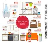 design room type infographics... | Shutterstock .eps vector #446408458