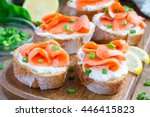 Sandwich With Smoked Salmon An...