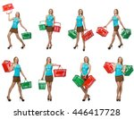composite photo of woman with... | Shutterstock . vector #446417728
