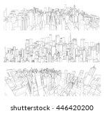 cityscape vector sketch.... | Shutterstock .eps vector #446420200