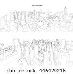 cityscape vector sketch.... | Shutterstock .eps vector #446420218