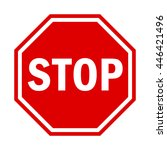 stop sign traffic | Shutterstock .eps vector #446421496