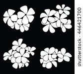 frangipani silhouettes for... | Shutterstock .eps vector #446421700