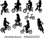 illustration with cyclists... | Shutterstock .eps vector #446426254
