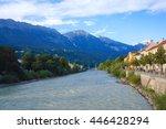 innsbruck austria august 13 ... | Shutterstock . vector #446428294