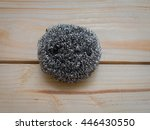 A Steel Wool Dishwashing On A...