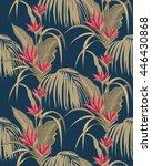 decorative tropical beige... | Shutterstock .eps vector #446430868
