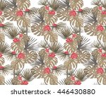 seamless pattern  with... | Shutterstock .eps vector #446430880