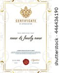 certificate to be elegant and... | Shutterstock .eps vector #446436190