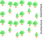 cute seamless pattern with trees | Shutterstock .eps vector #446439664