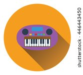 synthesizer toy icon. flat...