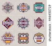 luxury elegance insignias retro ... | Shutterstock .eps vector #446450719