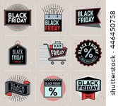 black friday color insignias... | Shutterstock .eps vector #446450758