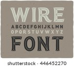 vintage look decorative wire... | Shutterstock .eps vector #446452270