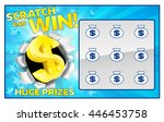 a lottery instant scratch and... | Shutterstock .eps vector #446453758