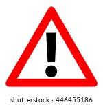 Red Triangle Warning Alert Sig...