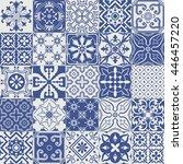 big vector set of tiles... | Shutterstock .eps vector #446457220