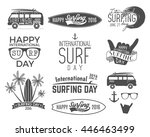summer surfing day graphic...   Shutterstock . vector #446463499