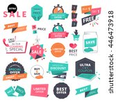set of flat design style badges ... | Shutterstock .eps vector #446473918