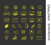 outline web icons set   search... | Shutterstock .eps vector #446479963