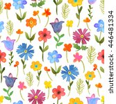 seamless floral  background.... | Shutterstock .eps vector #446481334