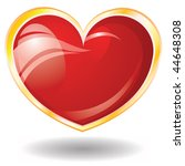 valentine's glossy heart on... | Shutterstock .eps vector #44648308