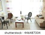 modern living room interior.... | Shutterstock . vector #446487334