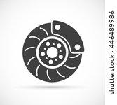 brake disc icon   Shutterstock .eps vector #446489986