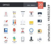 office and tools in flat icons  ... | Shutterstock .eps vector #446501569